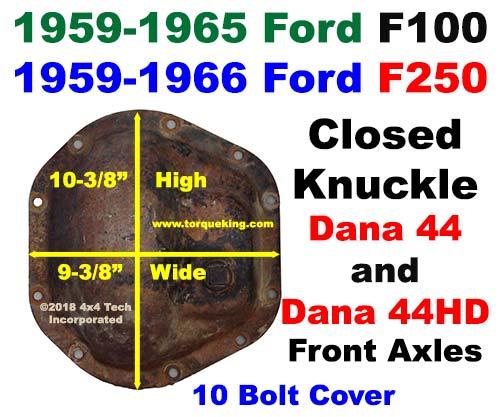 Dana 44, 44HD Parts, Tools, Manuals 1959-1966 Ford F-100 and